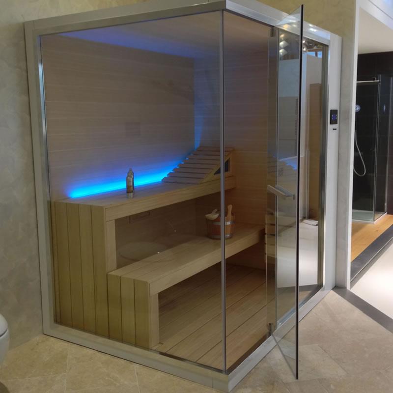 sauna trasparente