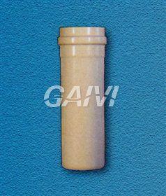 Foto TUBO FUMO CON BICCHIERE E OR D.80 CM. 200 BIANCO 1,2 MM