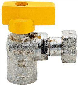 Foto BON-GAS RUBINETTO GAS A SFERA ANGOLO 1/2 FF