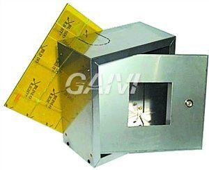 foto VETRO A ROMPERE X CASSETTA PROTEZIONE INOX 55X50